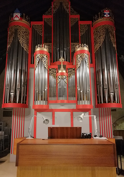 the Hradetzky organ in San Salvator's Chapel, St Andrews
