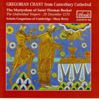 cover of Gregorian Chant from Canterbury Cathedral CD